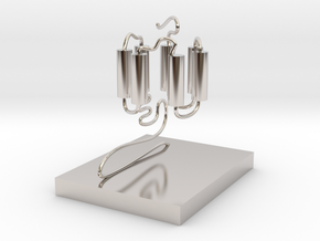 GPCR(3D With Stand) in Platinum