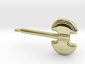 Battle Axe in 18k Gold Plated Brass