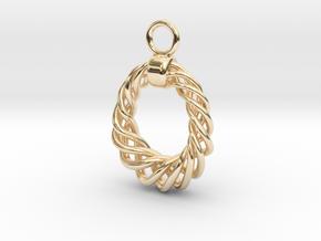 Wreath Earring in 14K Yellow Gold