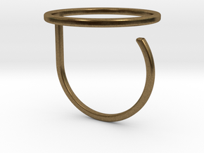 Circle ring shape. in Natural Bronze