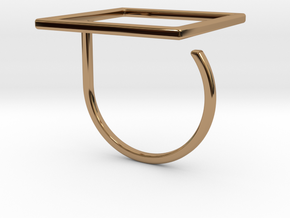 Square ring shape. in Polished Brass