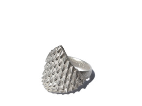 Dragonscales Ring Silver in Raw Silver