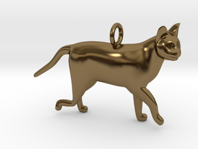 Cat in Polished Bronze