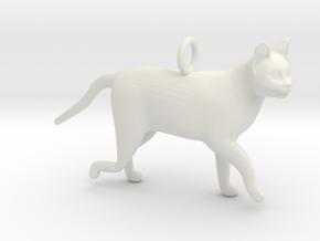 Cat in White Natural Versatile Plastic