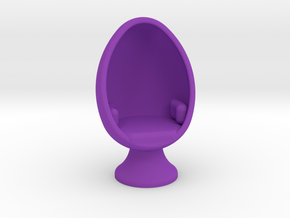 SciFi Egg Chair, 1:64 Scale in Purple Processed Versatile Plastic