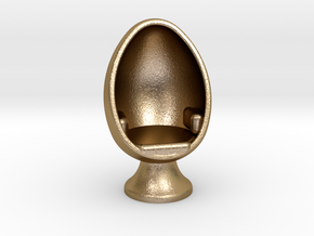 SciFi Egg Chair, 1:64 Scale in Polished Gold Steel