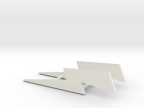 Personalize-able Lightning Bolt Business Card Hold in White Natural Versatile Plastic
