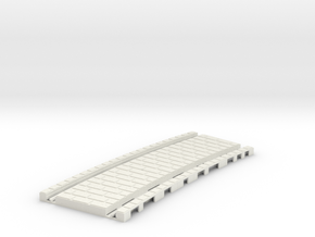 P-45stg-tram-long-curve-200-1a in White Natural Versatile Plastic
