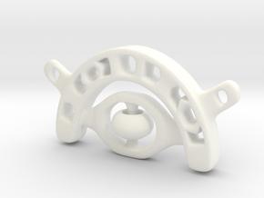 Eye Pendant in White Processed Versatile Plastic