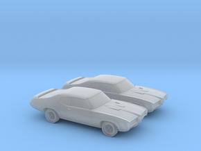 1-160 2X 1969 Pontiac GTO in Smooth Fine Detail Plastic