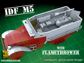 IDF M5 Halftrack with Flamethrower in Frosted Ultra Detail