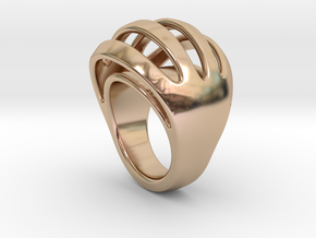 RING CRAZY 31 - ITALIAN SIZE 31  in 14k Rose Gold Plated Brass