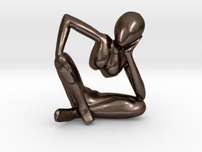 African Sculpture in Polished Bronze Steel