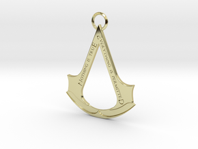 Assassin's creed logo-bottle opener (with ring) in 18k Gold