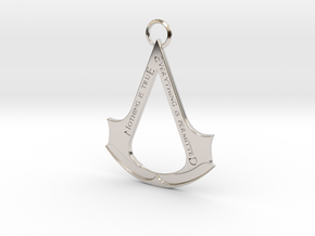 Assassin's creed logo-bottle opener (with ring) in Rhodium Plated Brass