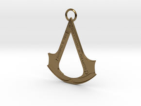 Assassin's creed logo-bottle opener (with ring) in Polished Bronze
