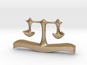 Eyeglass Cap of Justice in Polished Gold Steel