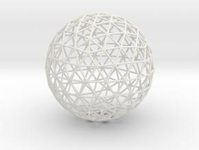Geodesic Sphere in White Natural Versatile Plastic