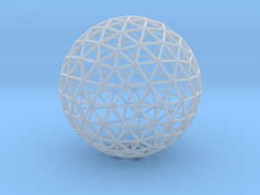 Geodesic Sphere in Smooth Fine Detail Plastic