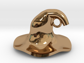 Wizard's Hat in Polished Brass