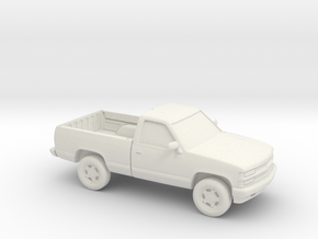 1/87 1994 Chevrolet FullSize Pickup Regular Cab in White Natural Versatile Plastic
