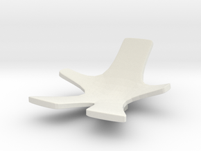 Chair No. 8 in White Natural Versatile Plastic