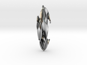 Ovo-gyroid in Polished Silver