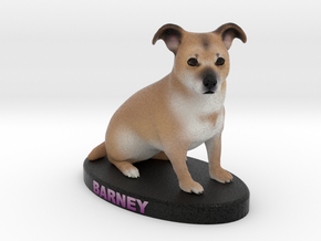 Custom Dog Figurine - Barney in Full Color Sandstone