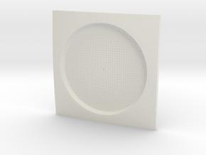 Parametric Coaster in White Natural Versatile Plastic