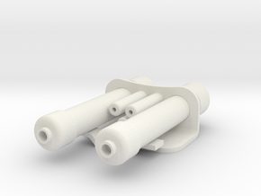 Power Cell Assembly Scaled in White Natural Versatile Plastic