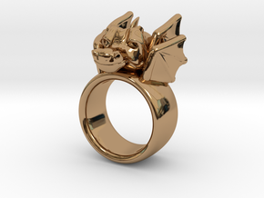 Dragon Ring in Polished Brass