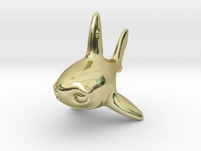 Samuel the shark pendant V2 in 18k Gold Plated Brass