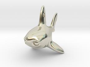 Samuel the shark pendant V2 in 14k White Gold