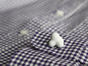 Cumulus Cufflink #501 in White Strong & Flexible