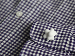 Cumulus Cufflink #504 in White Strong & Flexible