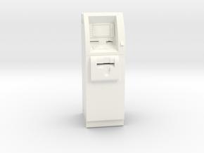 SlimCash 200 ATM, O-scale / Dollhouse 1:48 scale in White Processed Versatile Plastic