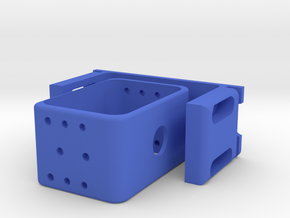Floating Shield Mount For Printing in Blue Processed Versatile Plastic