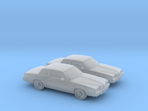 1/160 2X 1985 Pontiac Grand Prix in Smooth Fine Detail Plastic
