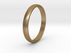 Ring Size 5 smooth in Polished Gold Steel