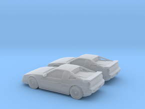 1/160 2X 1986-88 Pontiac Fiero Fast Back in Frosted Ultra Detail