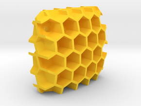Bienenwabe in Yellow Processed Versatile Plastic