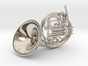 French Horn Pendant in Platinum