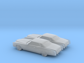 1/160 2X 1971 Cadillac Eldorado Convertible in Smooth Fine Detail Plastic