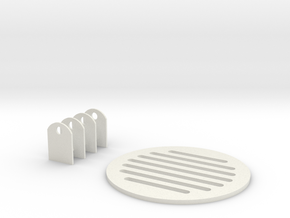 Jetpack Vent And Door Clamps in White Strong & Flexible