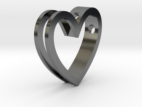 One Love Pendant in Premium Silver