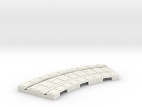 P-165stg-short-curve-100r-100-1a in White Natural Versatile Plastic