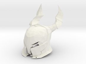 Horn Knight Helmet  Dark Souls for LEGO in White Natural Versatile Plastic