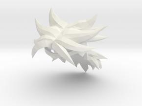 Custom Broly SSj Inspired Hair for Lego in White Natural Versatile Plastic