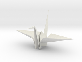 Fold Origami Crane 3D in White Strong & Flexible