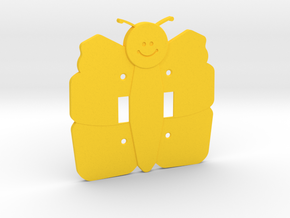Butterfly Double Switch Cover Plate in Yellow Strong & Flexible Polished